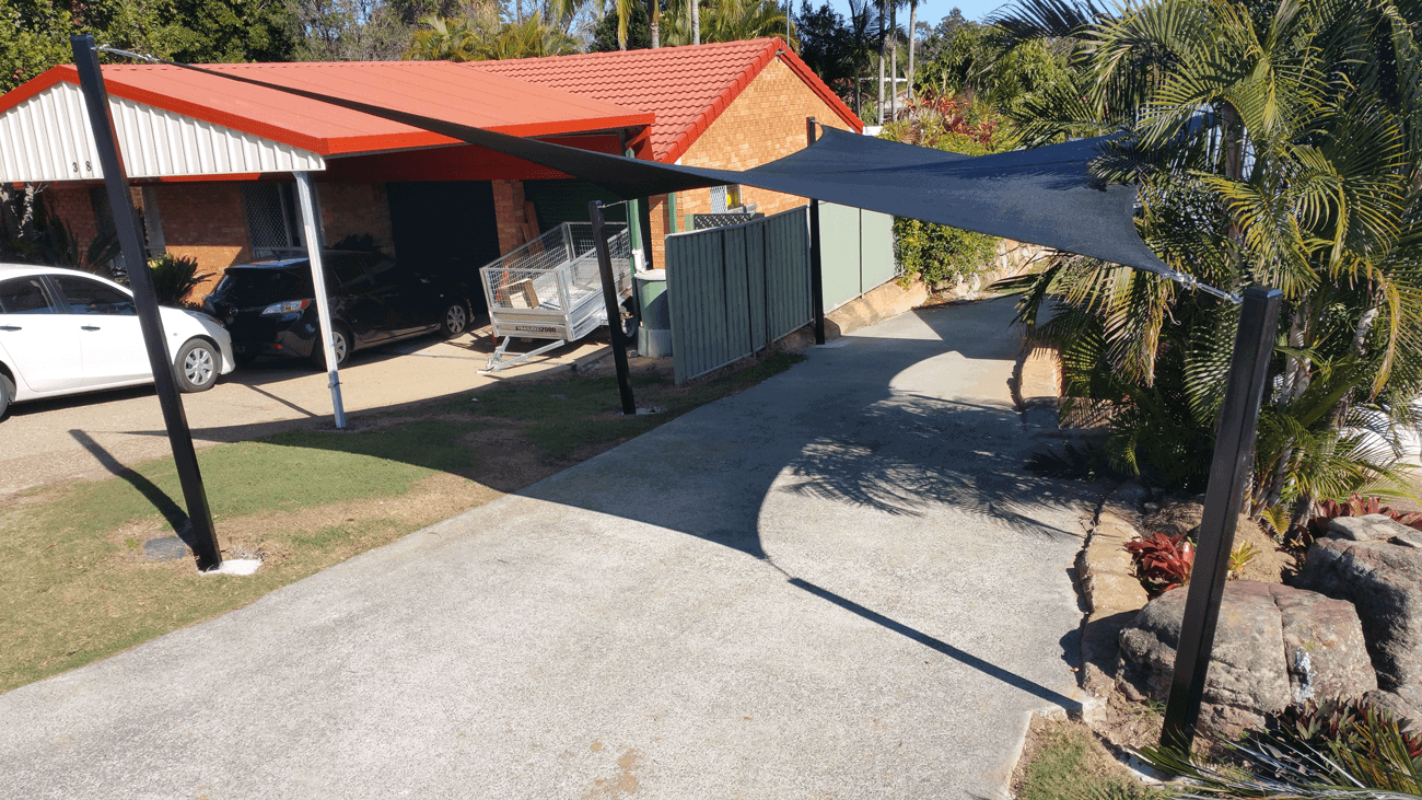 Black Shade Sail for sun protection - Residential - Home