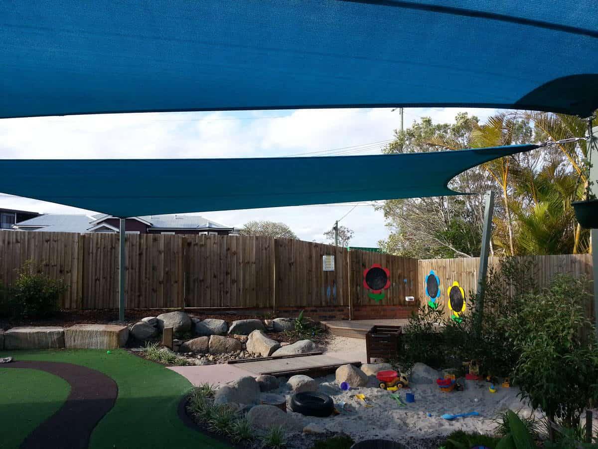 Shade-sails-installed-over-child-care-centre-sandpit