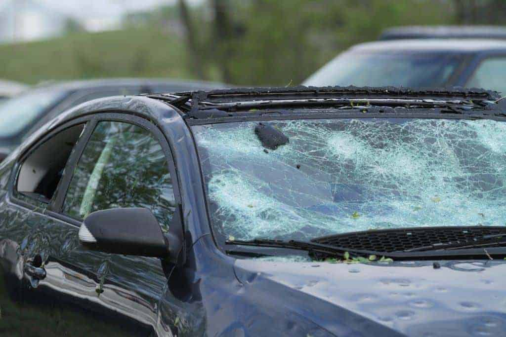 Will the sun shade protect my car from large hail and storms?