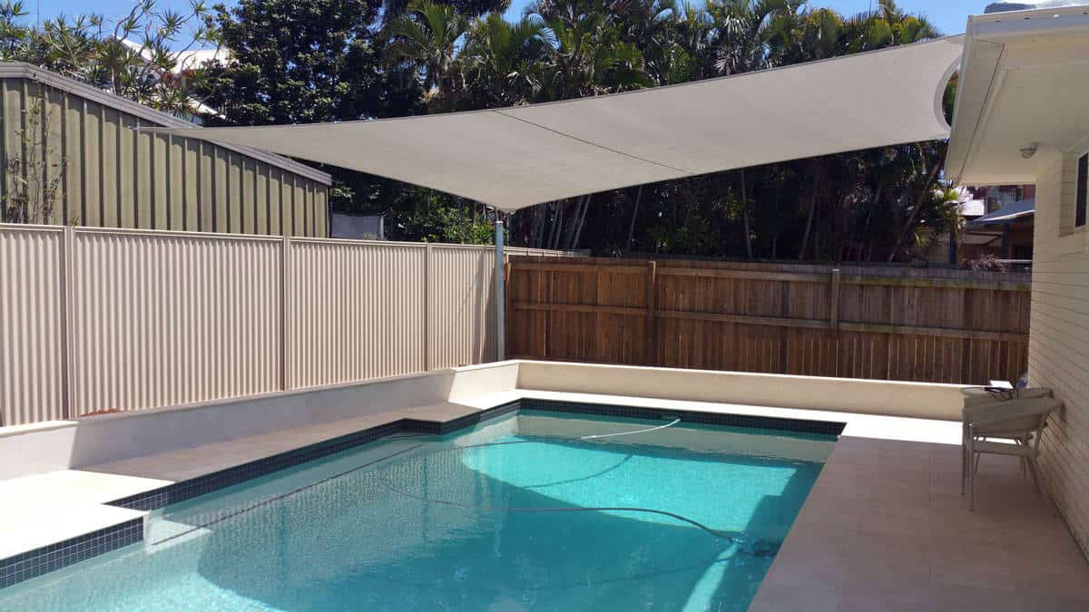Pool shade sail brisbane swimming pool shade superior for Shadesails com