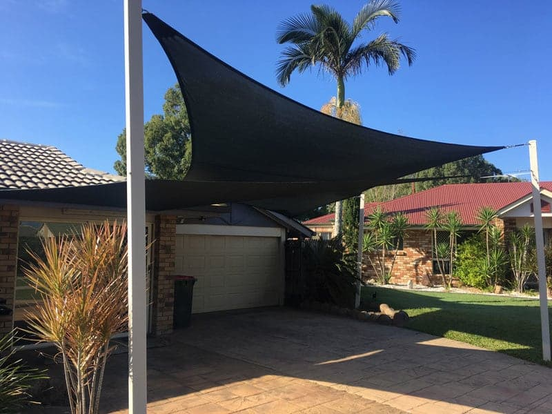 Carport shade sail in Lawnton, Brisbane installed by Superior Shade Sails.