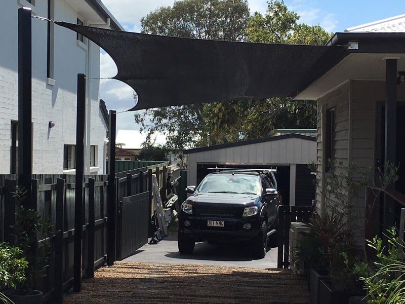 Shade Sails For Vehicles : Carport driveway shade sails brisbane structures