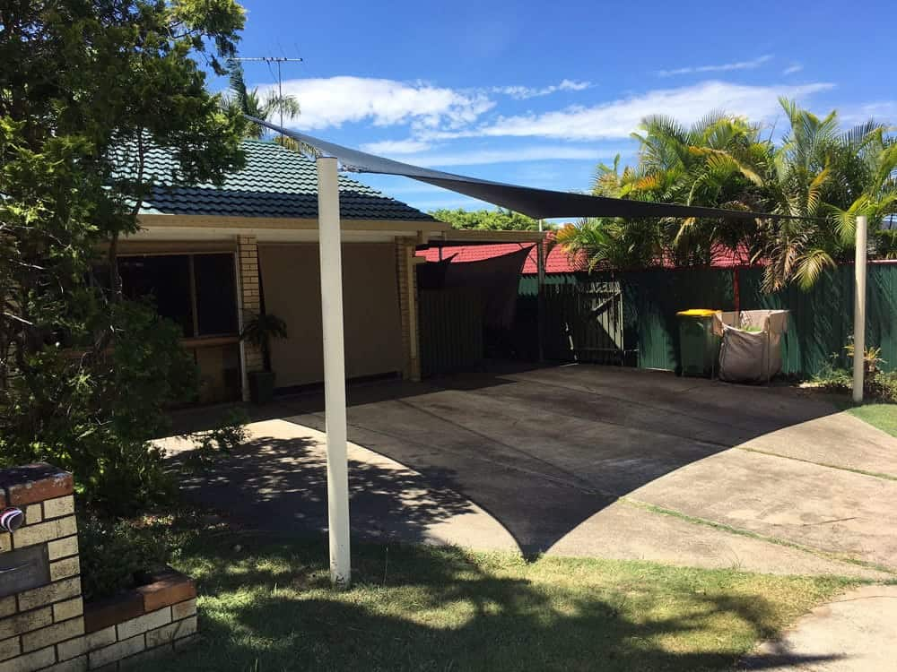 Carport-ShadeSails-Rochedale,Brisbane installed by Superior Shade Sails.