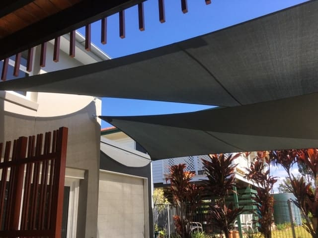 Chermside-Twin Driveway Overlapping Sails - Superior Shade Sails