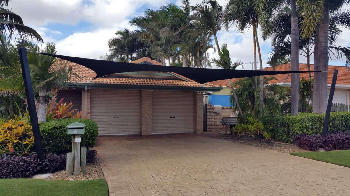 Sail Shades for driveway to protect car - Brisbane - Superior Shade Sails