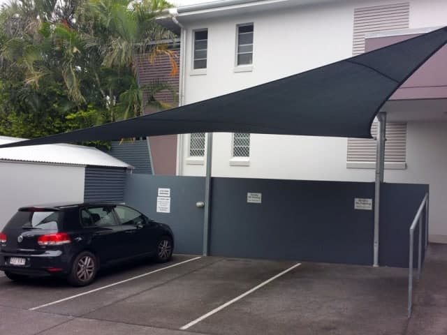 Shade sails for car protection from sun and hail - Brisbane - Superior Shade Sails