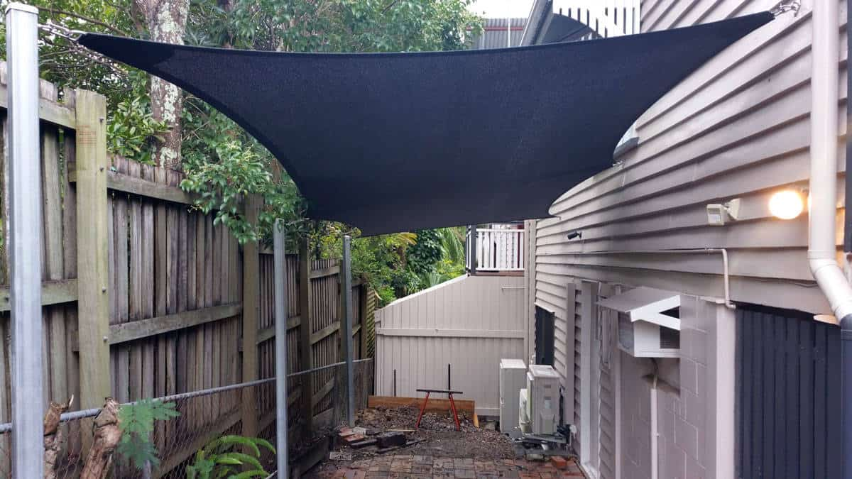 Superior Shade Sails recommend that the carport sail be sizeable where practical. Coverage is important as greater coverage improves overall protection of your assets.