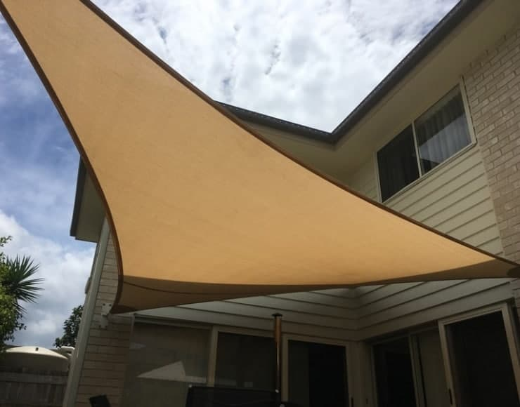 North Lakes - Patio replacement sail installed by Superior Shade Sails.