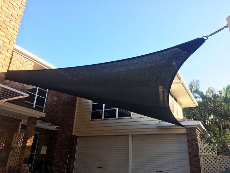 Driveway shade sails installation at Thorneside, Brisbane by Superior Shade Sails.