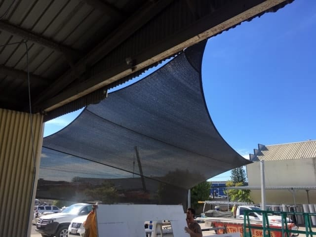 Shade sails - Gold Coast -Two shade sails have been joined together to create greater shade coverage.