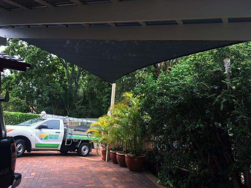 Shade sails Brisbane - Bridgeman Downs - Carport sail - on sail track