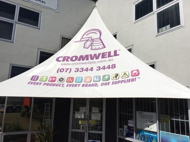Cromwell sail replaced with new White Sails at Coopers Plains.