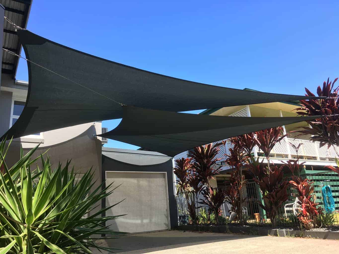 Chermside Twin Overlapping Driveway Sails - Brisbane - Superior Shade Sails