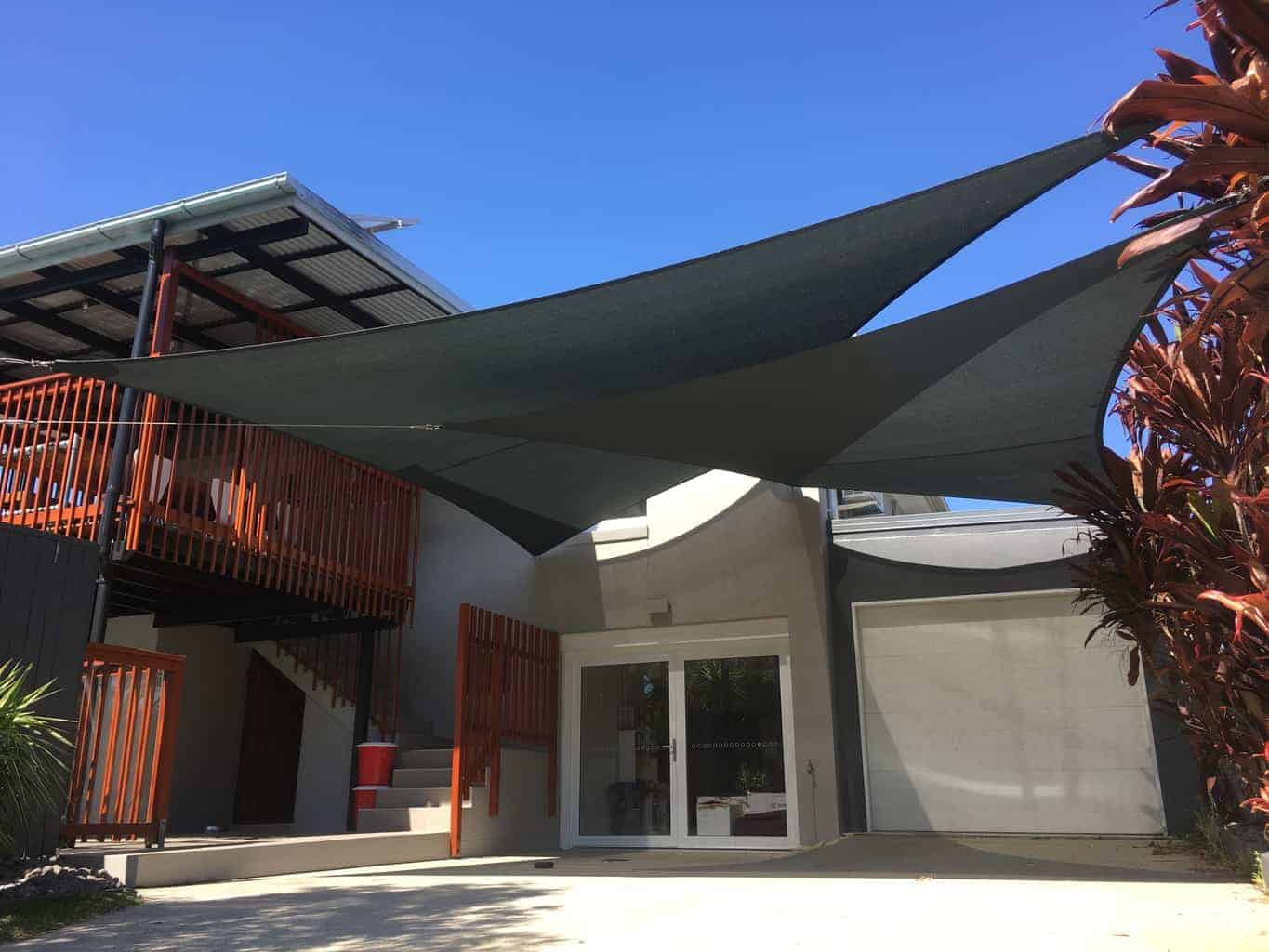 Chermside Twin Overlapping Sails - Superior Shade Sails - Brisbane.