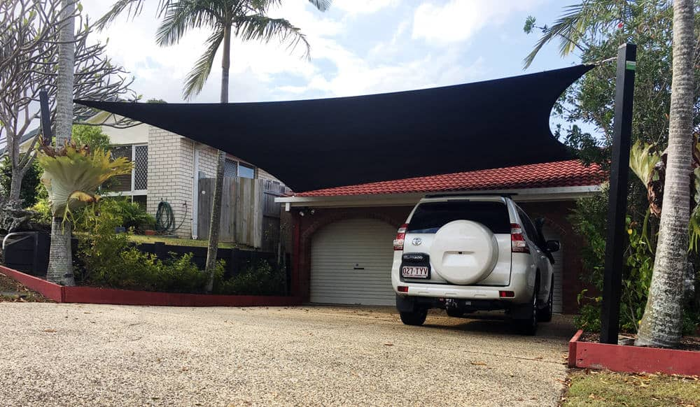 Tingalpa - Shade Sails- Brisbane - Driveway sail installed by Superior Shade Sails