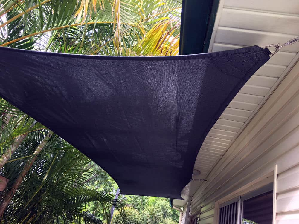 Cool and green in Mount Cootha, Brisbane - Carport and deck shade sail installation.