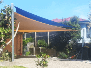 Sail Shades Installation for Car Protection - Home - Residential