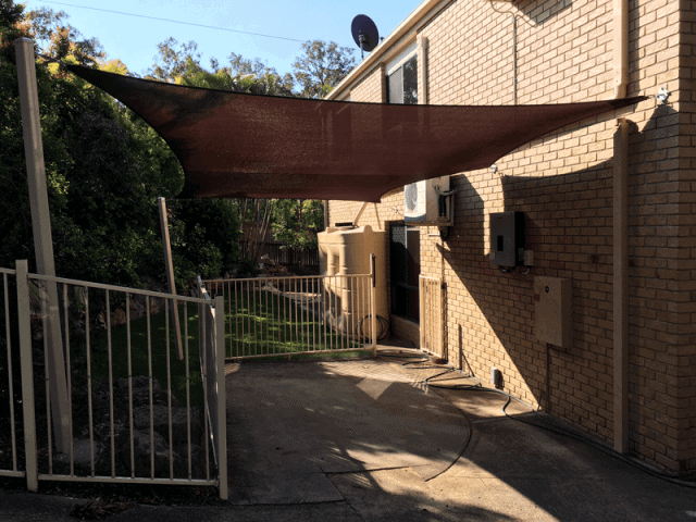 Brisbane Shade Sail - Runcorn_5 Point_carport-shade-sail_in-z-16-rainbow-shade