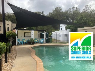 Swimming Pool Shade Sail  installed in Beenleigh by Superior Shade Sails.