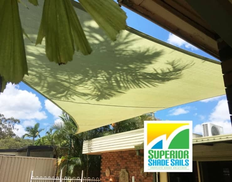 Pool side shade sail replacement in Daisy Hill