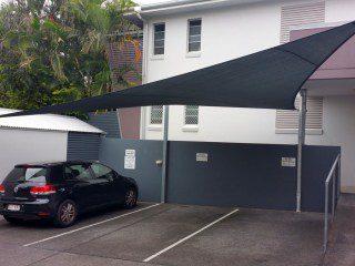 Shade sails for car protection from sun and hail - Brisbane - Superior Shade Sails