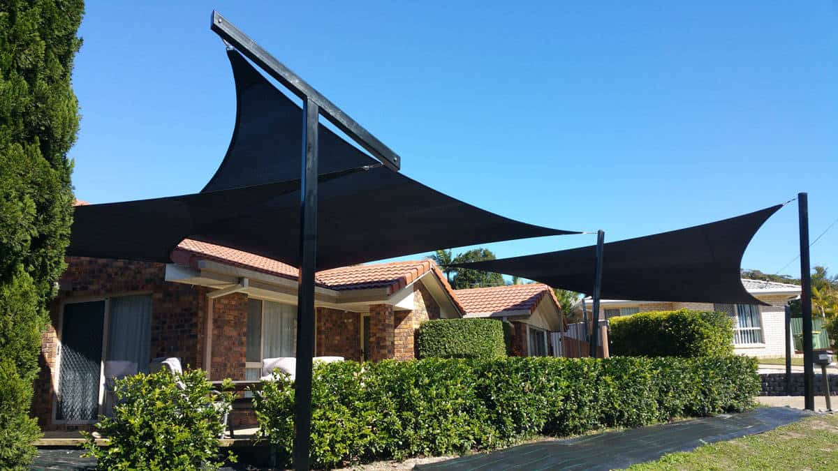 Carport sails need to consider the afternoon or western sun, as it is the hottest part of the day. It is important to limit the exposure of parked cars, boats or caravans in the evening  - Brisbane