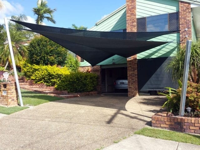 Carport sail shade structures are one of the most important sails around the home, that Superior Shade Sails design and manufacture.