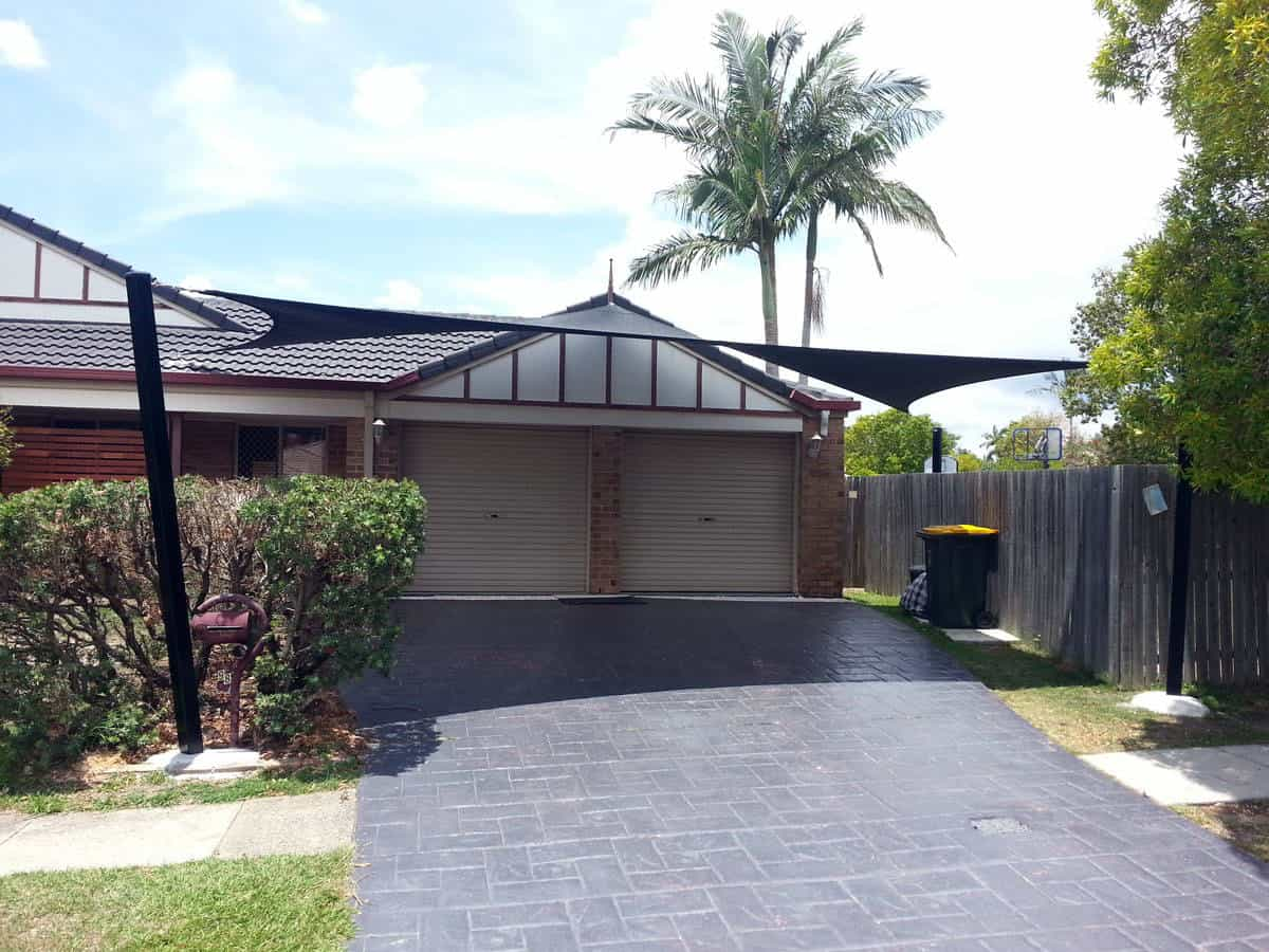 Driveway Sun Shade Sails for hail and storm protection - Brisbane