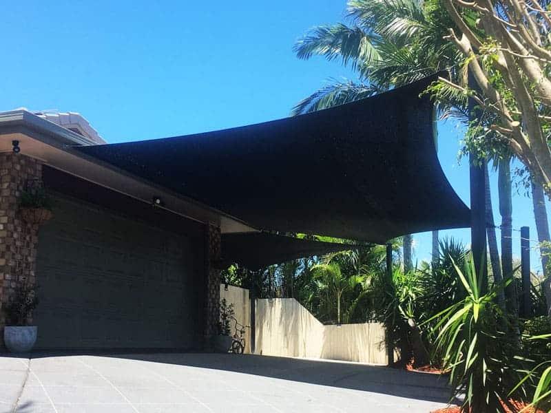 Mount Warren Park installation - Twin Carport Shade Sails by Superior Shade Sails, Brisbane