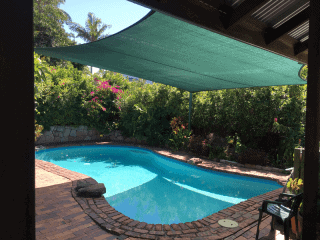 Pool shade sail, Hamilton Brisbane in Z16 with Marine Grade Thread.