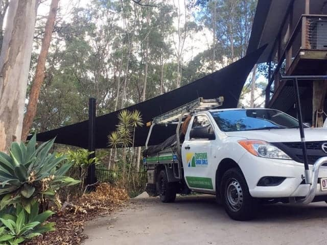 Carport Sun Shade, Eatons Hill, Brisbane installed by Superior Shade Sails.
