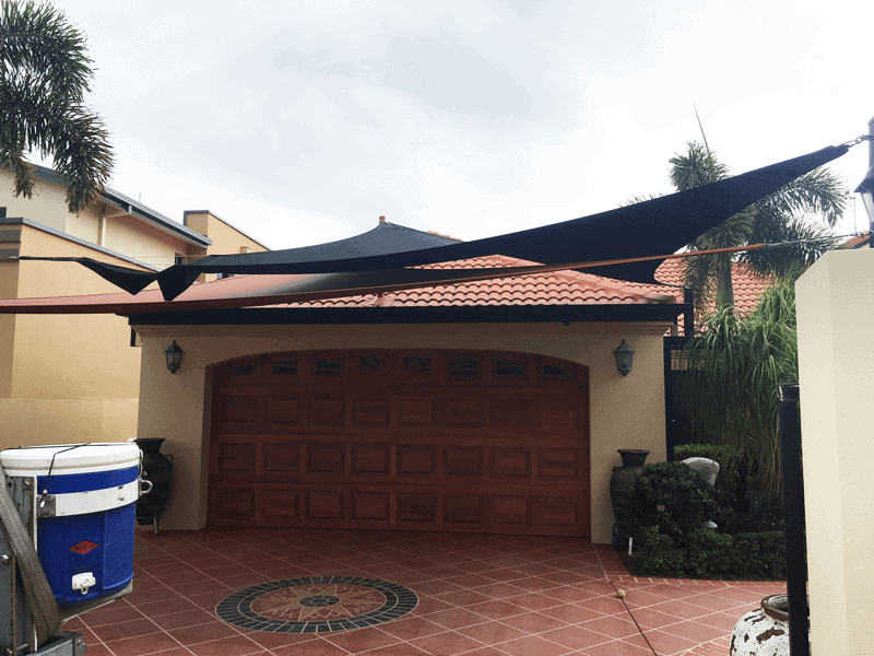 Double Shade Sails for Driveway installed by Superior Shade Sails
