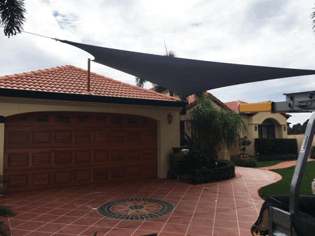 Driveway_Brisbane Double Shade Sails - Superior Shade Sails