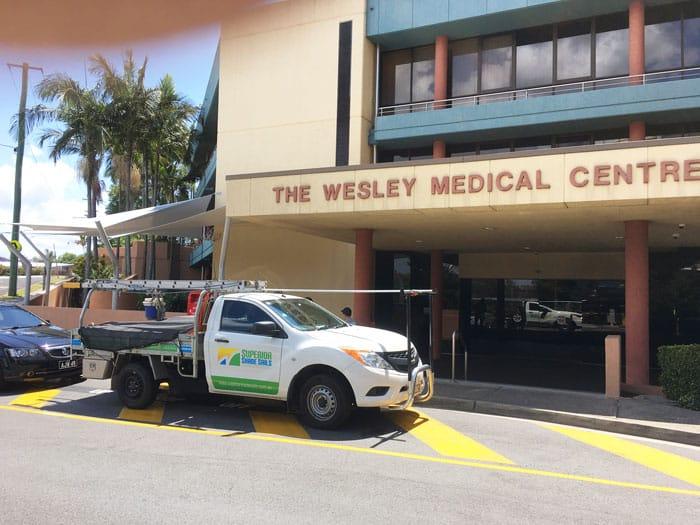 Wesley-Medical Centre -shade-sail-installation - Superior Shade Sails