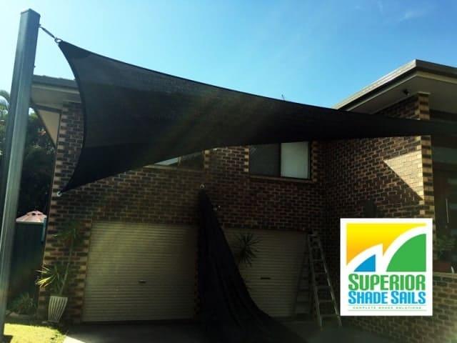 Brisbane-carport-shade-sails-algester-double-overlapping-sun-sails