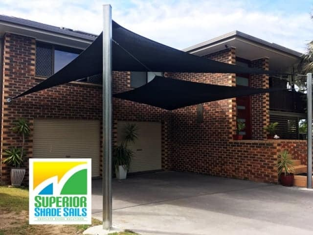 Brisbane-carport-shade-sails-algester-double-overlapping-sun-sails-sss
