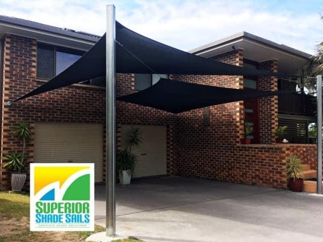 Brisbane-carport-shade-sails-algester-double-overlapping-sun-sails-sss
