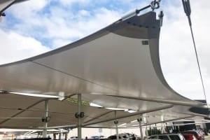 11 point carpark shade sail - Loganholme Hyperdome