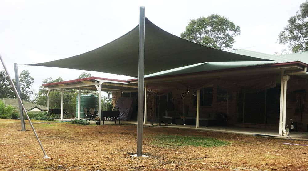 Greenbank -5 point-z16 Rainbow Shade Sail installed by Superior Shade Sails