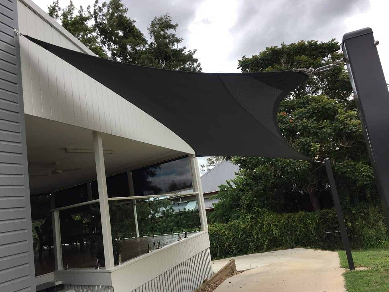 Ipswich- 4 point carport shade sails - Superior Shade Sails
