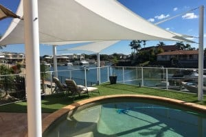Deck and Pool Shade Sails - Newport, Redcliffe Peninsula installed by Superior Shade Sails