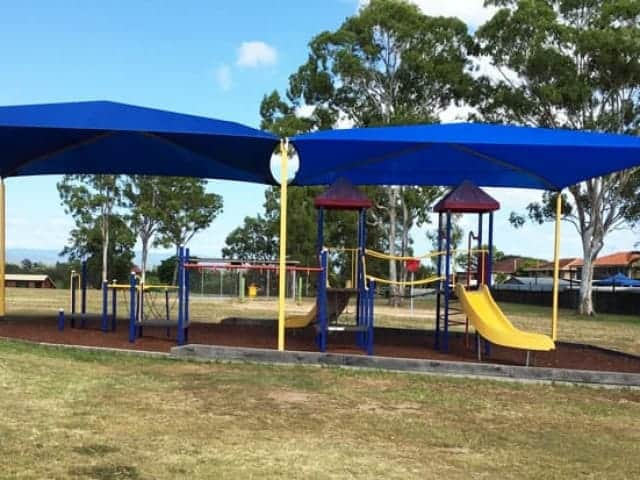 Shade sails installed at Brisbane North State School, Qld by Superior Shade Sails