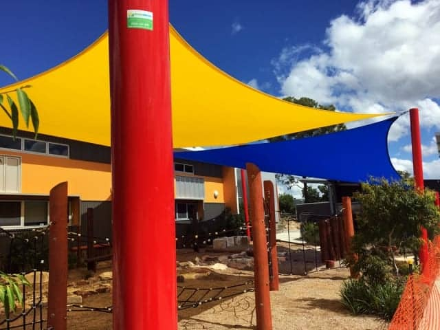 Shade Sail install at St Stephens School Algester, Brisbane