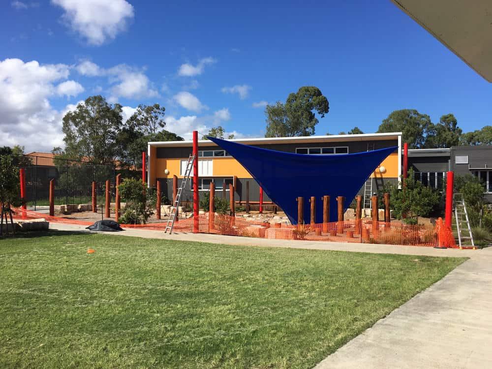 Shade Sail install at St Stephens School Algester, Brisbane