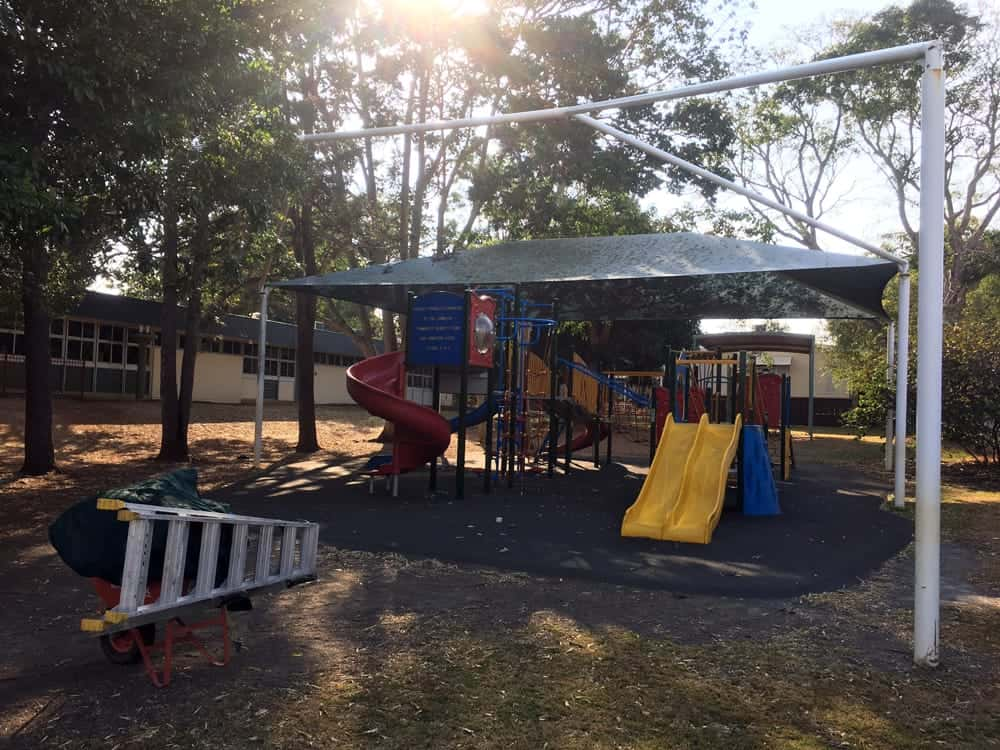 Before Photograph - Queensland Government - State School - Replacement of storm damaged Shade Sail in Redland Bay.