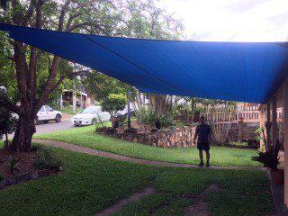 Driveway Shade Sail in Carina using Protex Parasol