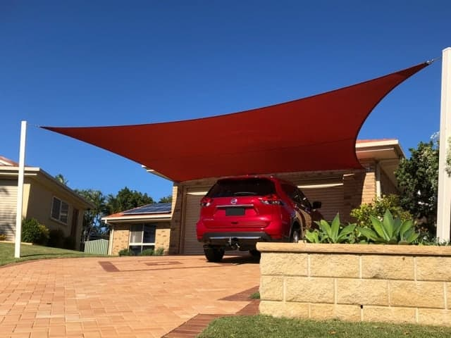Parkinson carport 5 point driveway sail - Superior Shade Sails