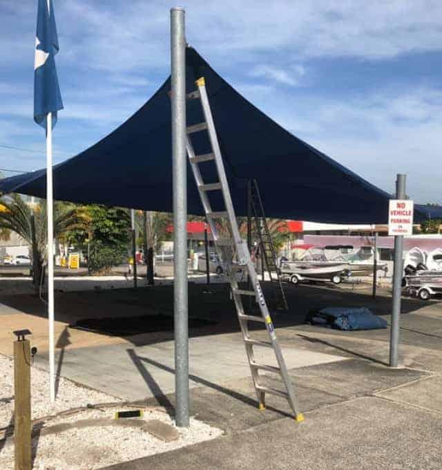 Shade Sail Replacement-Australian Marine Center, Slacks Creek, Brisbane.