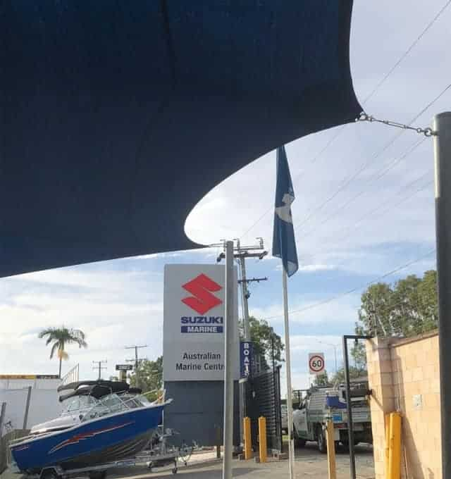 Shade Sail Replacement-Australian Marine Center, Slacks Creek, Brisbane.