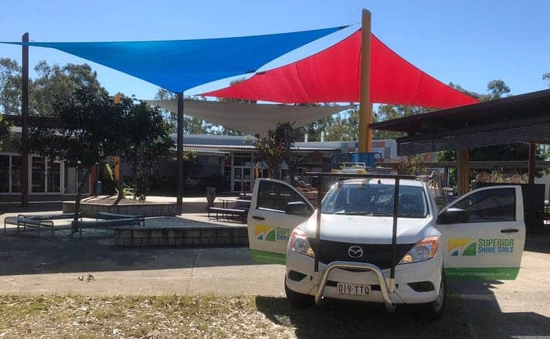Replacement Shade Sails for School in Flagstone, Brisbane